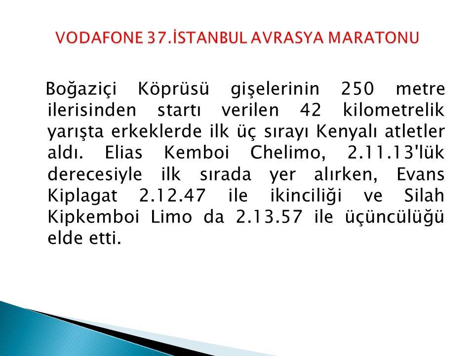VODAFONE 37.İSTANBUL AVRASYA MARATONU