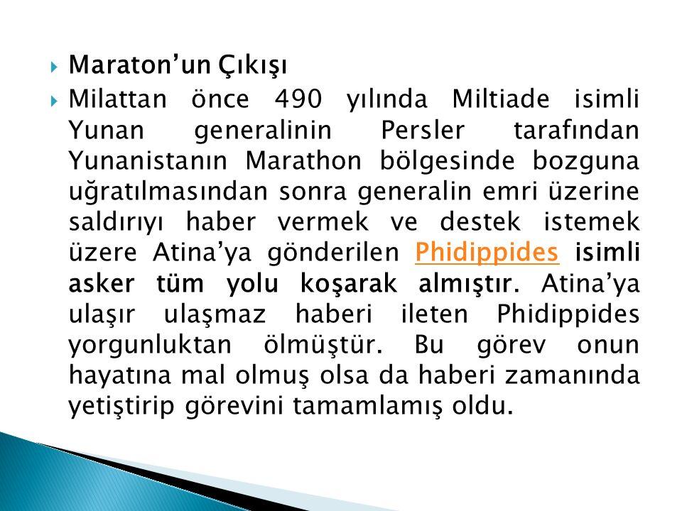 Maraton'un Çıkışı