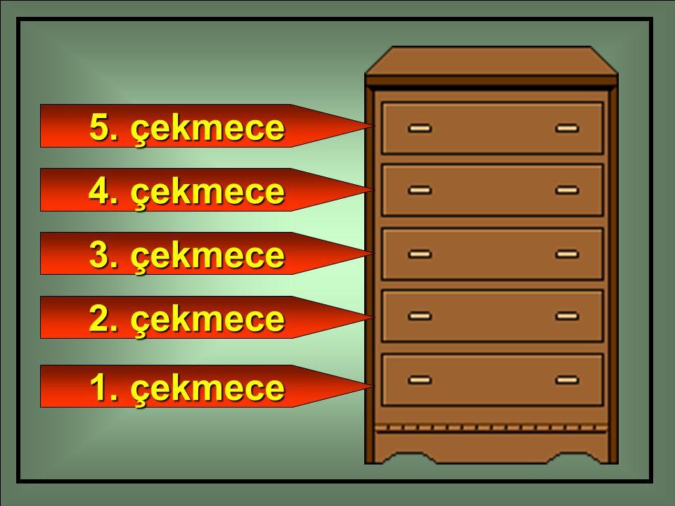 5. çekmece 4. çekmece 3. çekmece 2. çekmece 1. çekmece