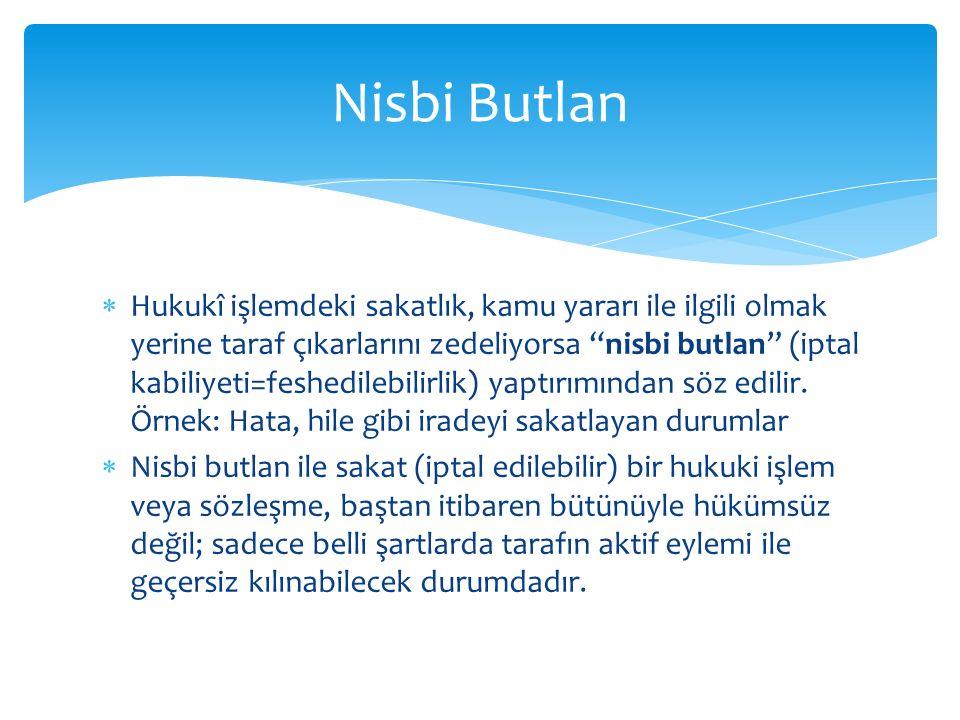Nisbi Butlan