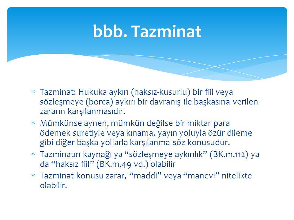 bbb. Tazminat