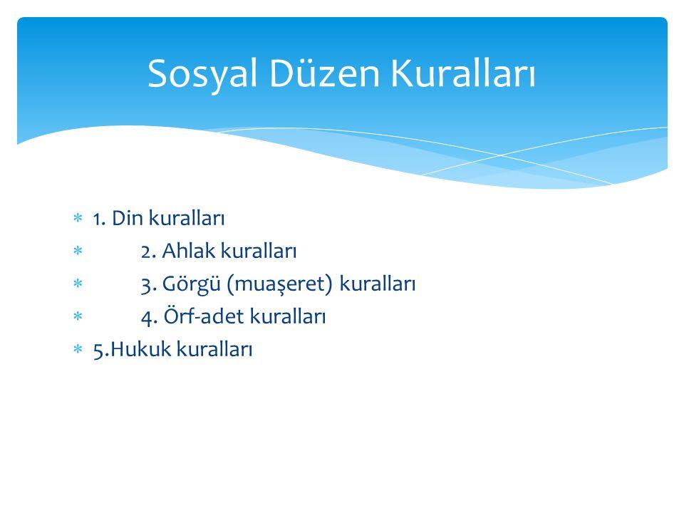 Sosyal Düzen Kuralları