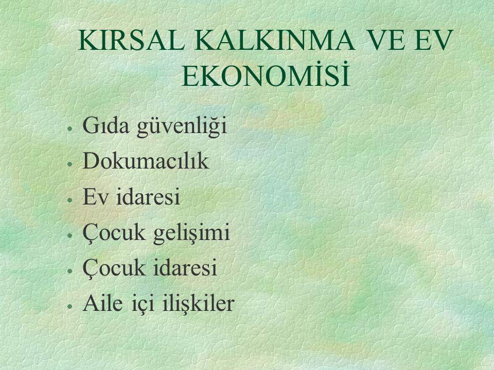 KIRSAL KALKINMA VE EV EKONOMİSİ
