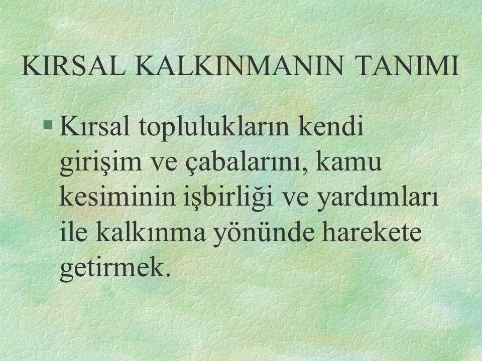 KIRSAL KALKINMANIN TANIMI