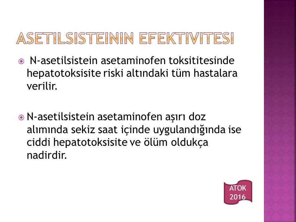 Asetilsisteinin efektivitesi
