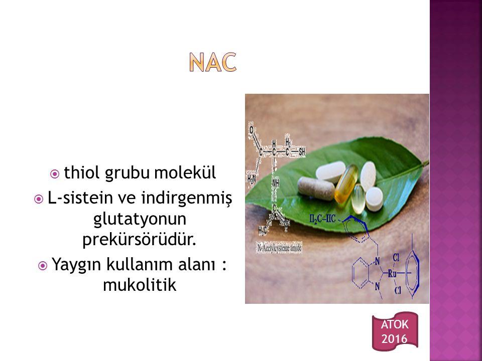NAC thiol grubu molekül