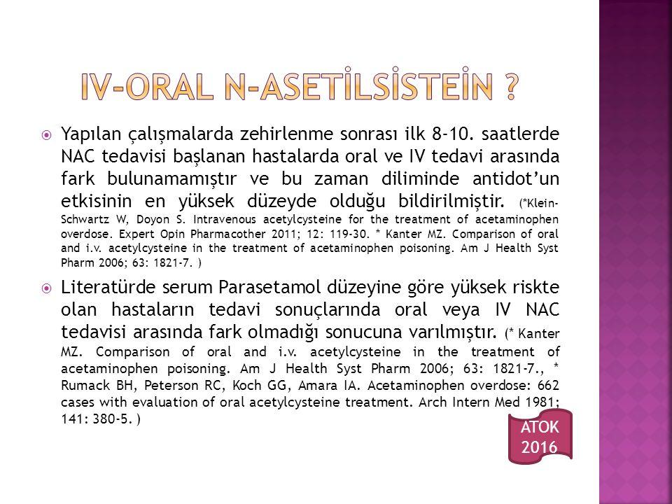 IV-ORAL N-ASETİLSİSTEİN