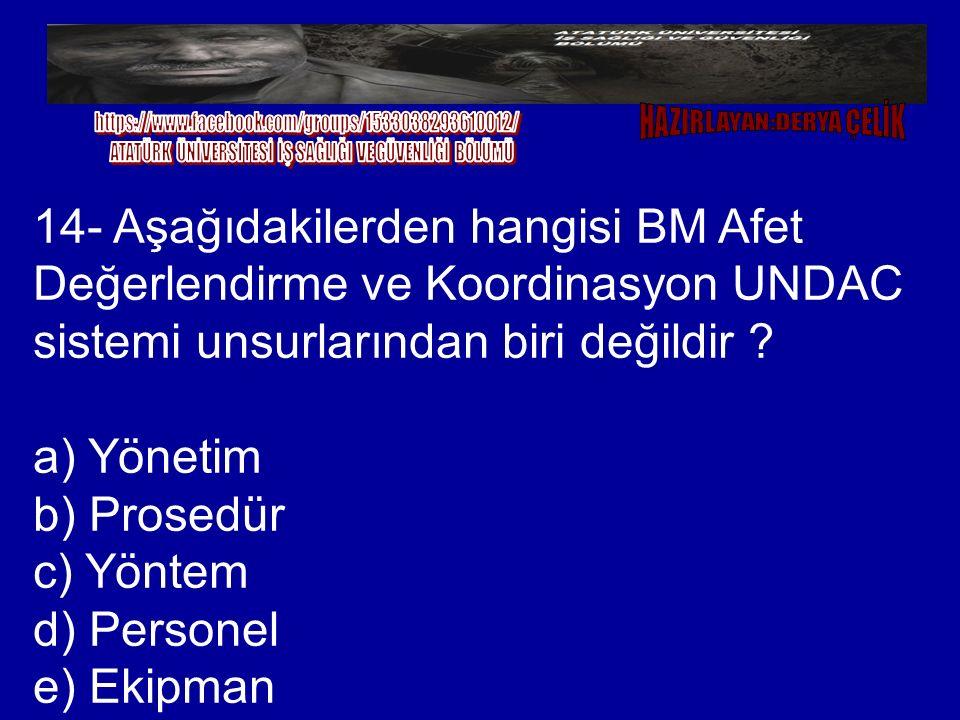 a) Yönetim b) Prosedür c) Yöntem d) Personel e) Ekipman