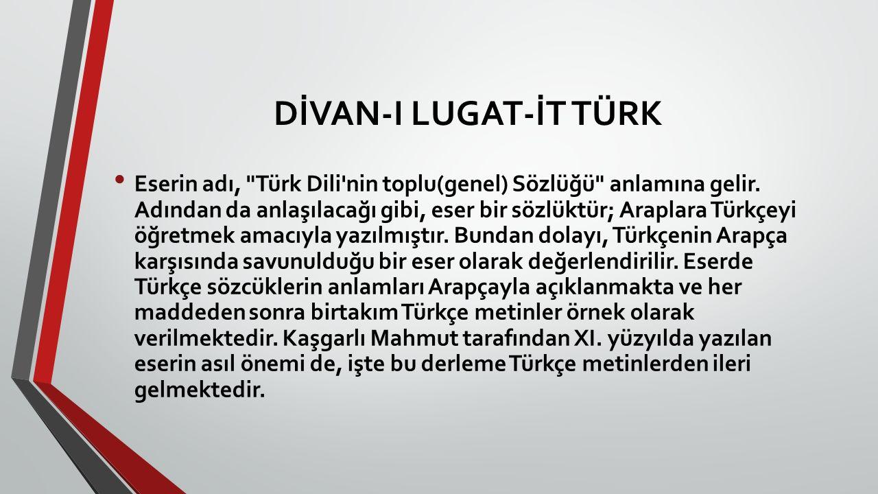 DİVAN-I LUGAT-İT TÜRK