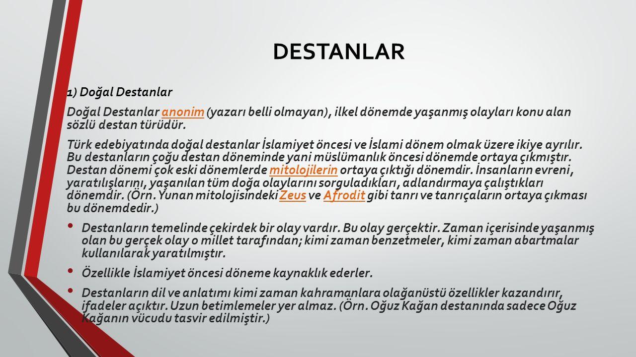 DESTANLAR 1) Doğal Destanlar