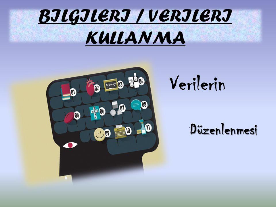 BILGILERI / VERILERI KULLANMA