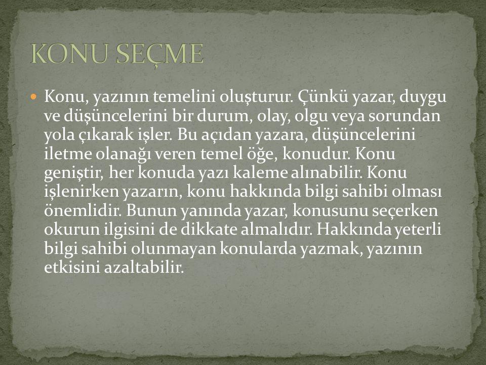 KONU SEÇME