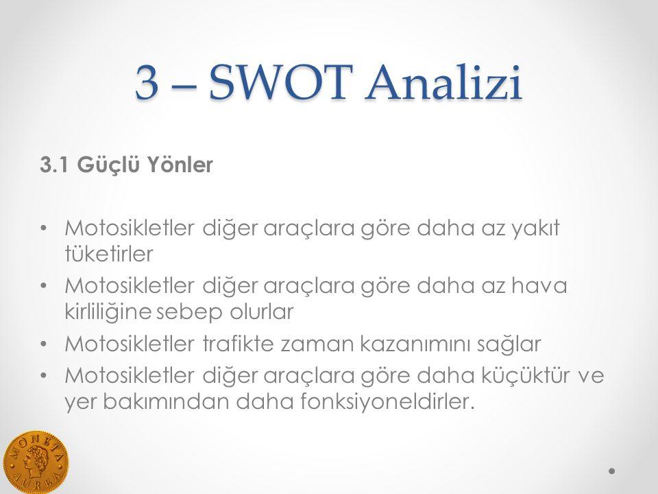 3 – SWOT Analizi 3.1 Güçlü Yönler