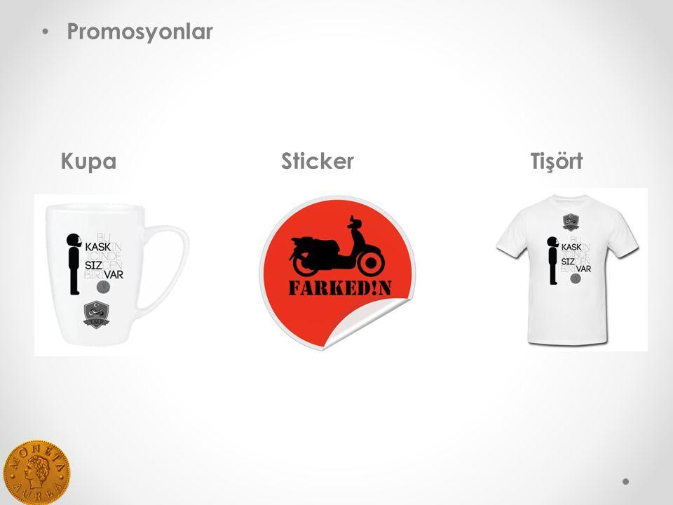 Promosyonlar Kupa Sticker Tişört