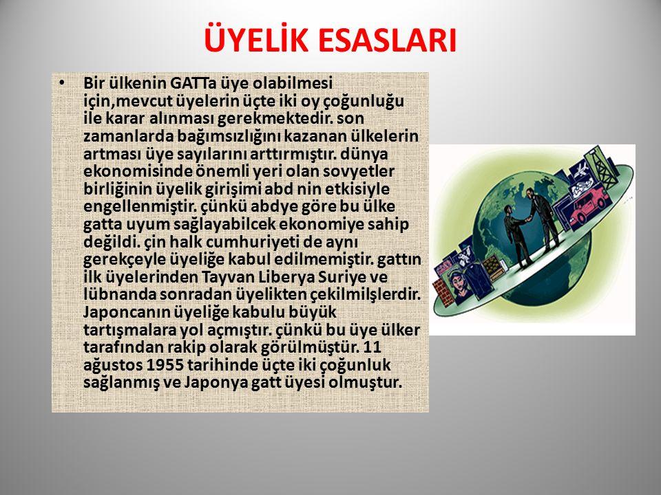 ÜYELİK ESASLARI