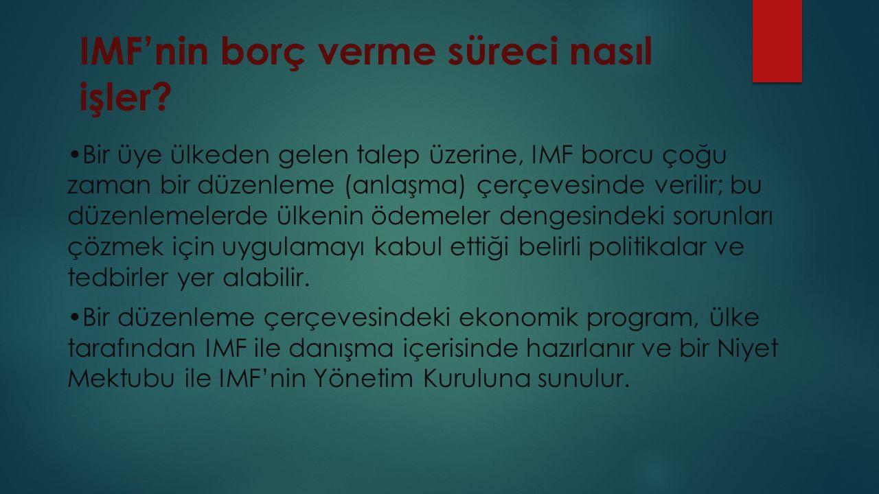 IMF'nin borç verme süreci nasıl işler