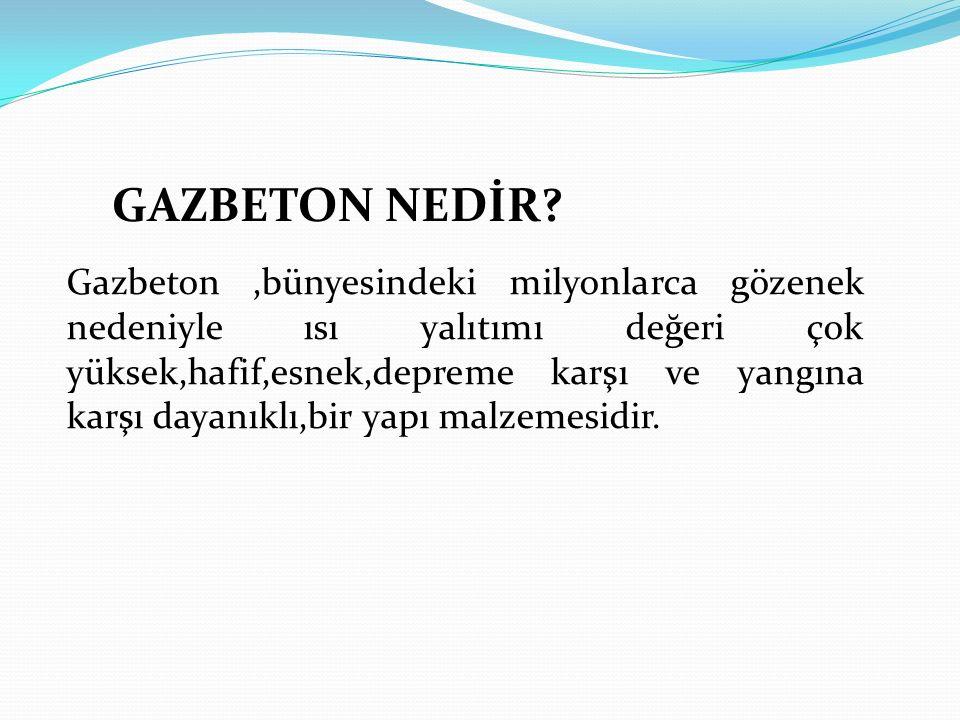 GAZBETON NEDİR