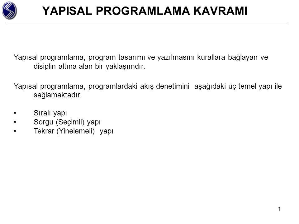 YAPISAL PROGRAMLAMA KAVRAMI