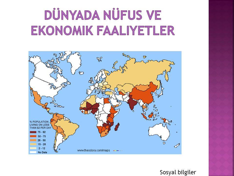 Dünyada nüfus ve ekonomik faaliyetler