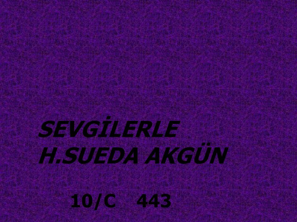 SEVGİLERLE H.SUEDA AKGÜN