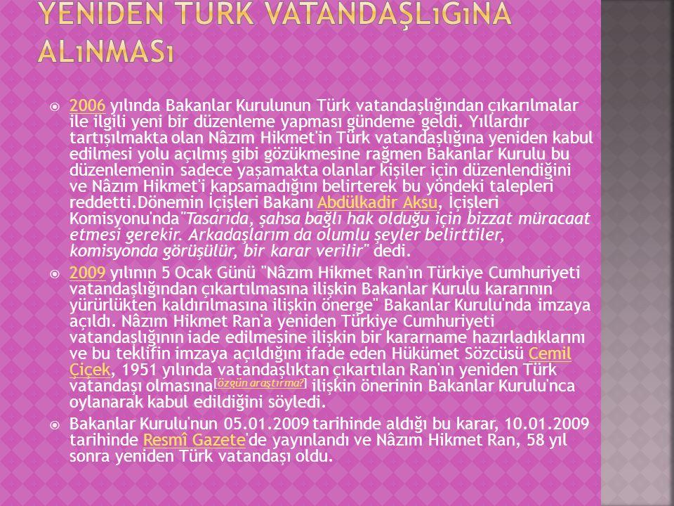 Yeniden Türk vatandaşlığına alınması
