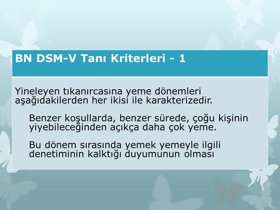 BN DSM-V Tanı Kriterleri - 1