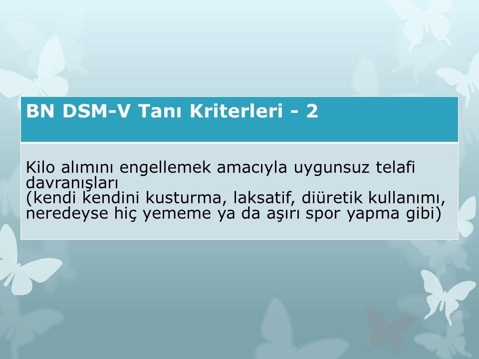 BN DSM-V Tanı Kriterleri - 2