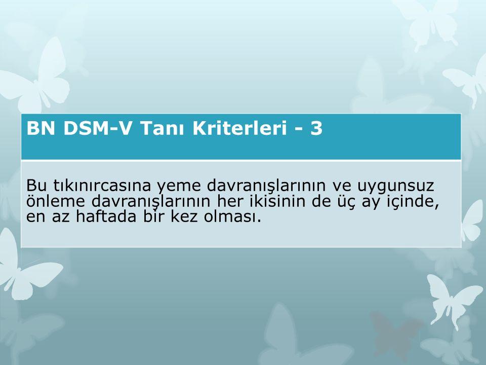 BN DSM-V Tanı Kriterleri - 3