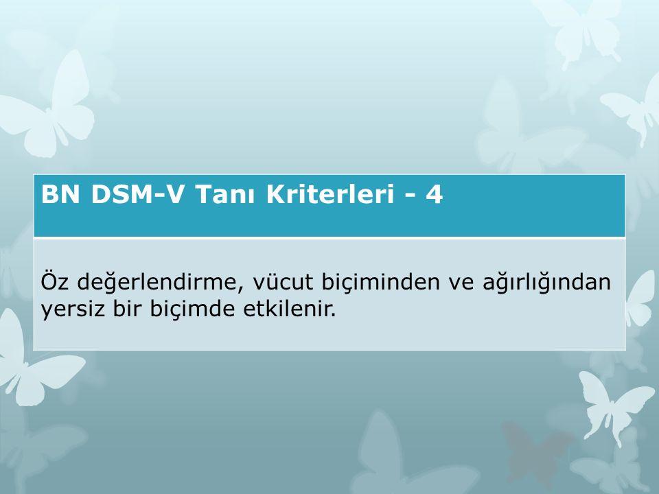 BN DSM-V Tanı Kriterleri - 4