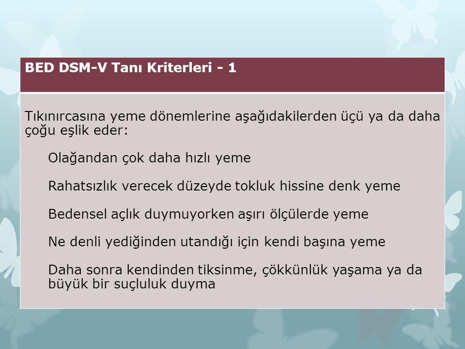 BED DSM-V Tanı Kriterleri - 1