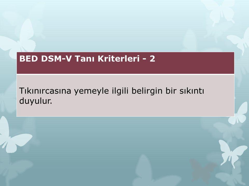 BED DSM-V Tanı Kriterleri - 2