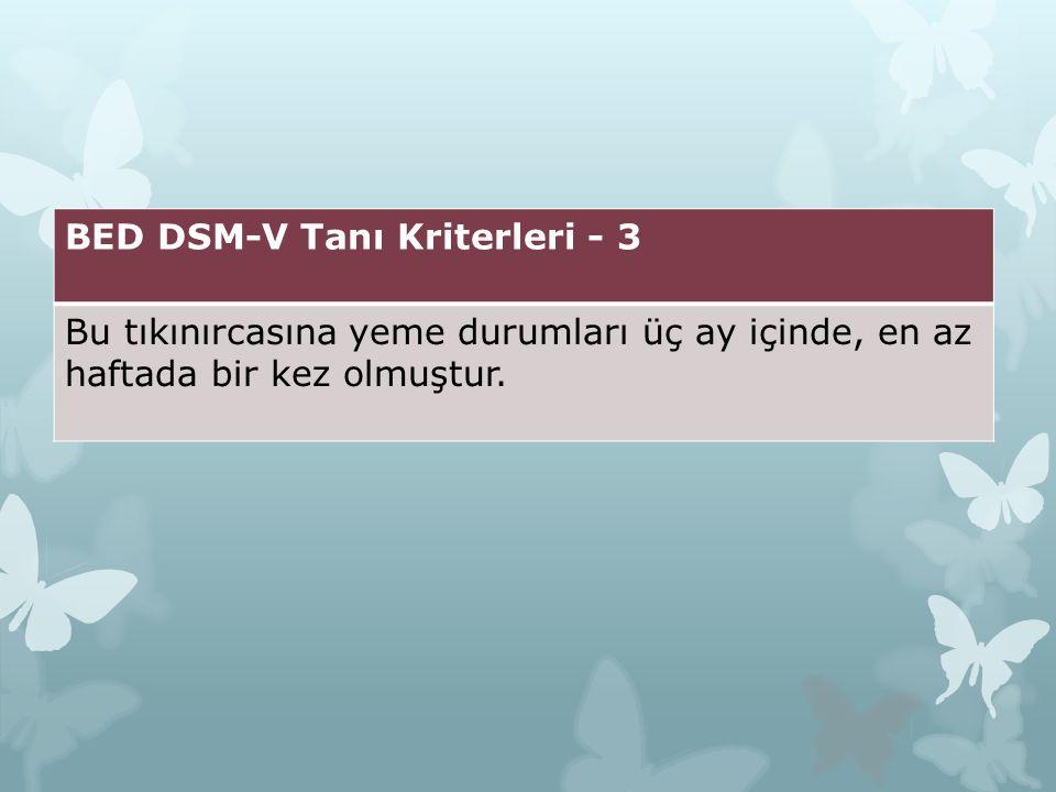 BED DSM-V Tanı Kriterleri - 3