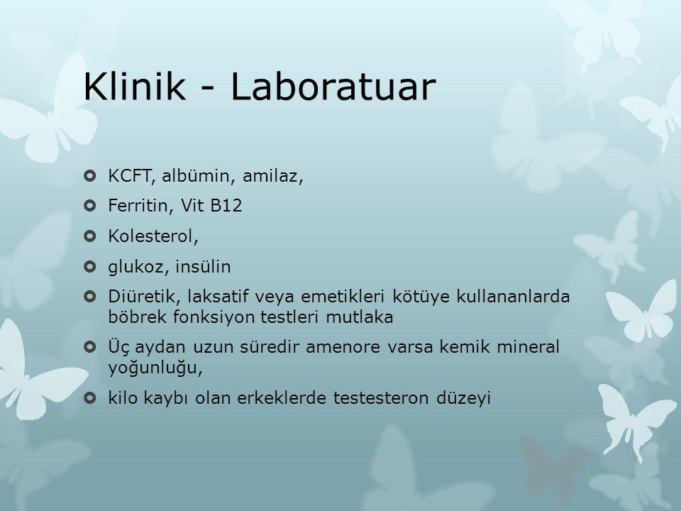 Klinik - Laboratuar KCFT, albümin, amilaz, Ferritin, Vit B12