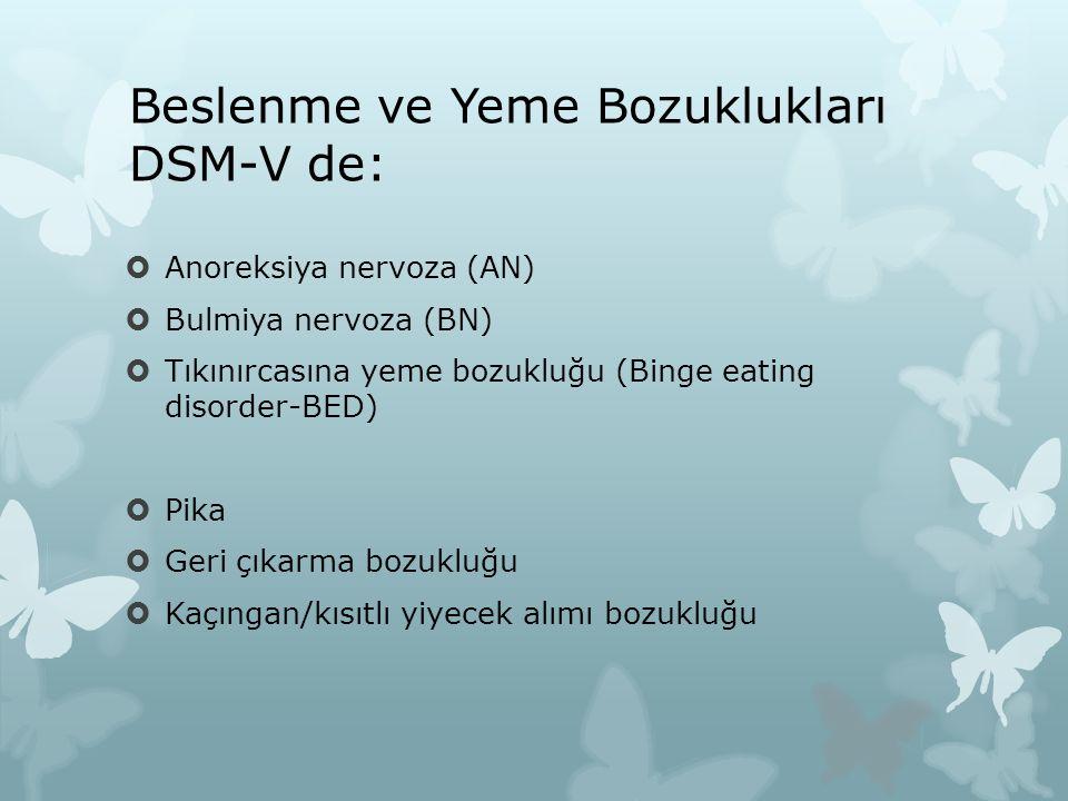 Beslenme ve Yeme Bozuklukları DSM-V de: