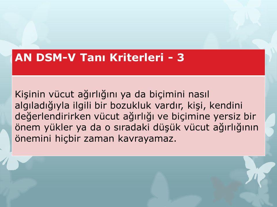 AN DSM-V Tanı Kriterleri - 3