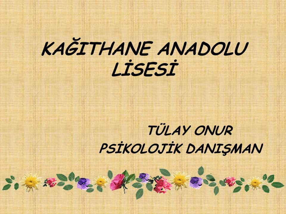KAĞITHANE ANADOLU LİSESİ