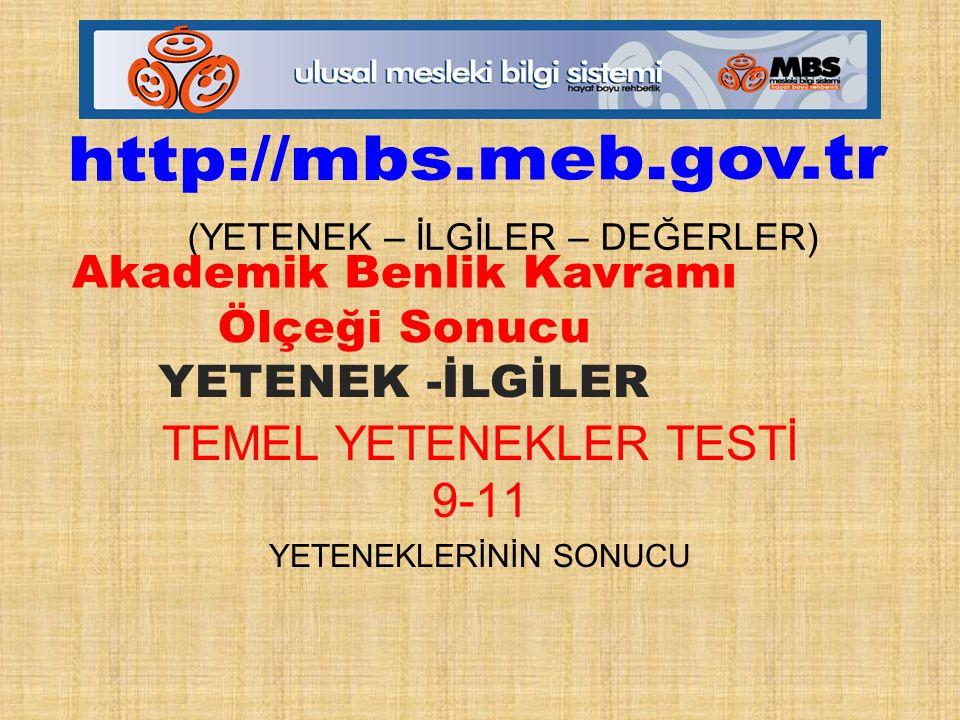 TEMEL YETENEKLER TESTİ 9-11 YETENEKLERİNİN SONUCU