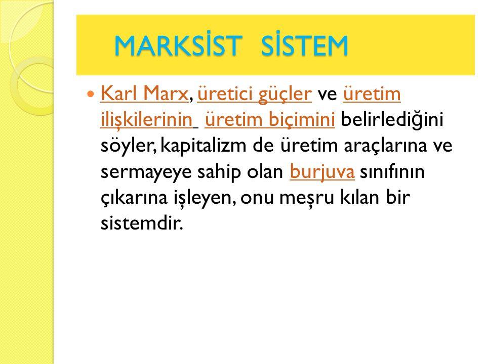 MARKSİST SİSTEM