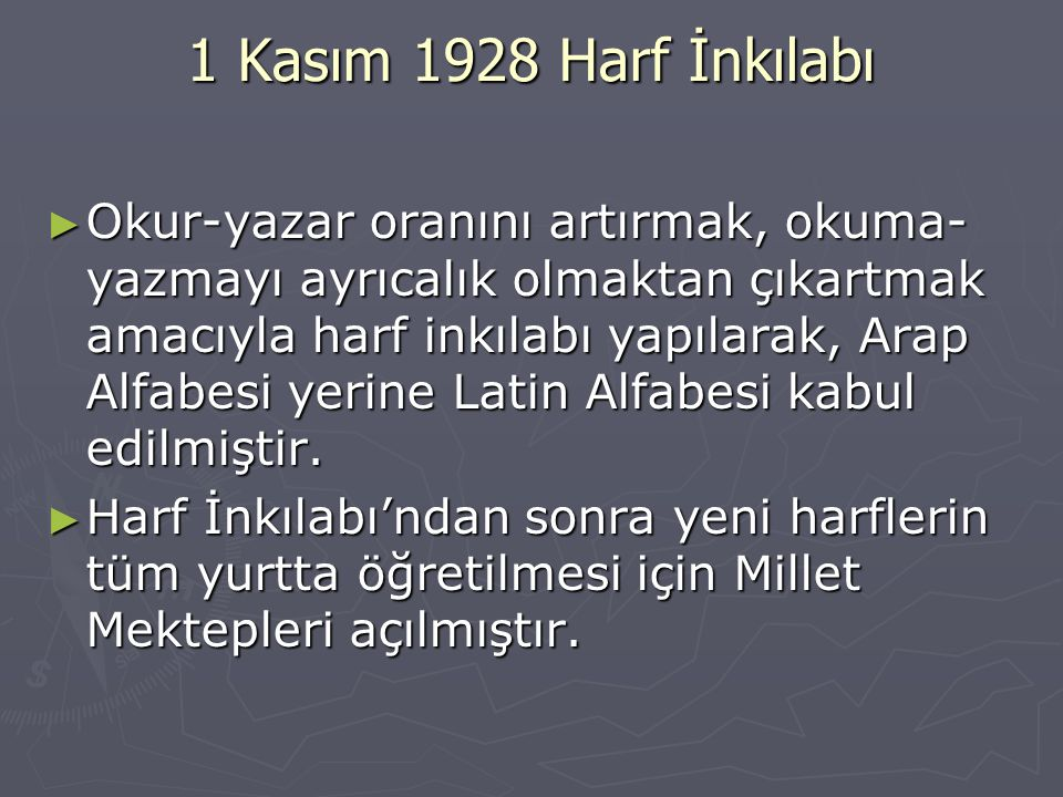 1 Kasım 1928 Harf İnkılabı