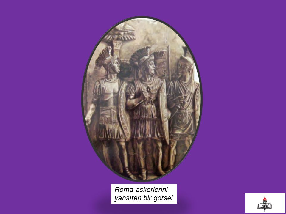 Roma askerlerini yansıtan bir görsel