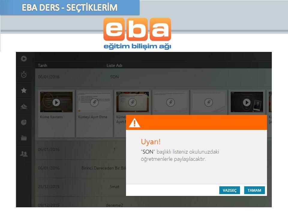 EBA DERS - SEÇTİKLERİM