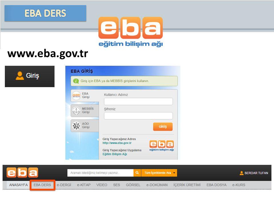 EBA DERS www.eba.gov.tr
