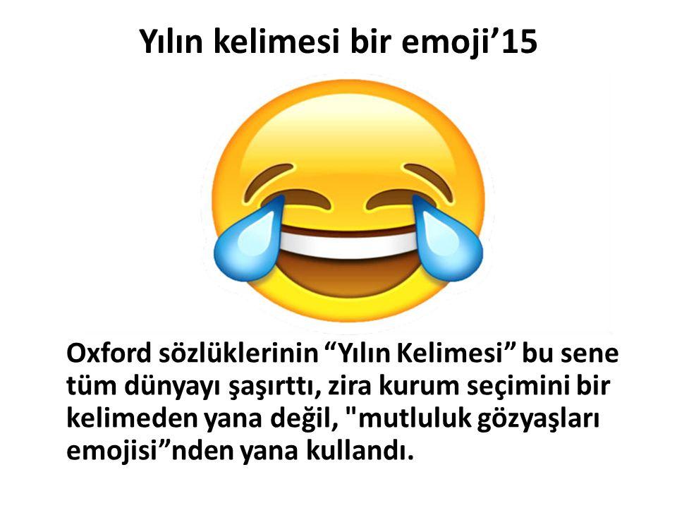 Yılın kelimesi bir emoji'15