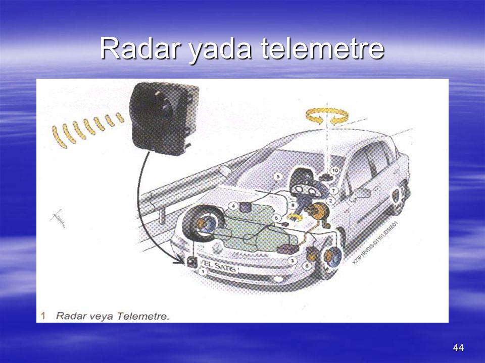 Radar yada telemetre