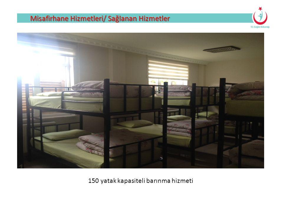 150 yatak kapasiteli barınma hizmeti