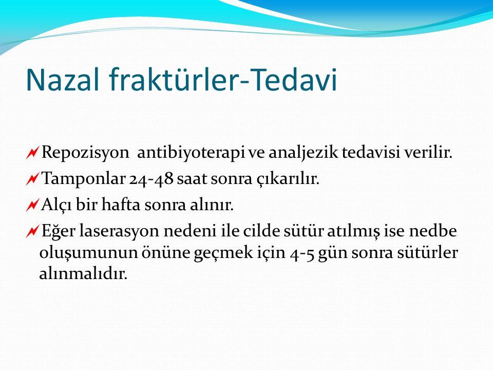 Nazal fraktürler-Tedavi