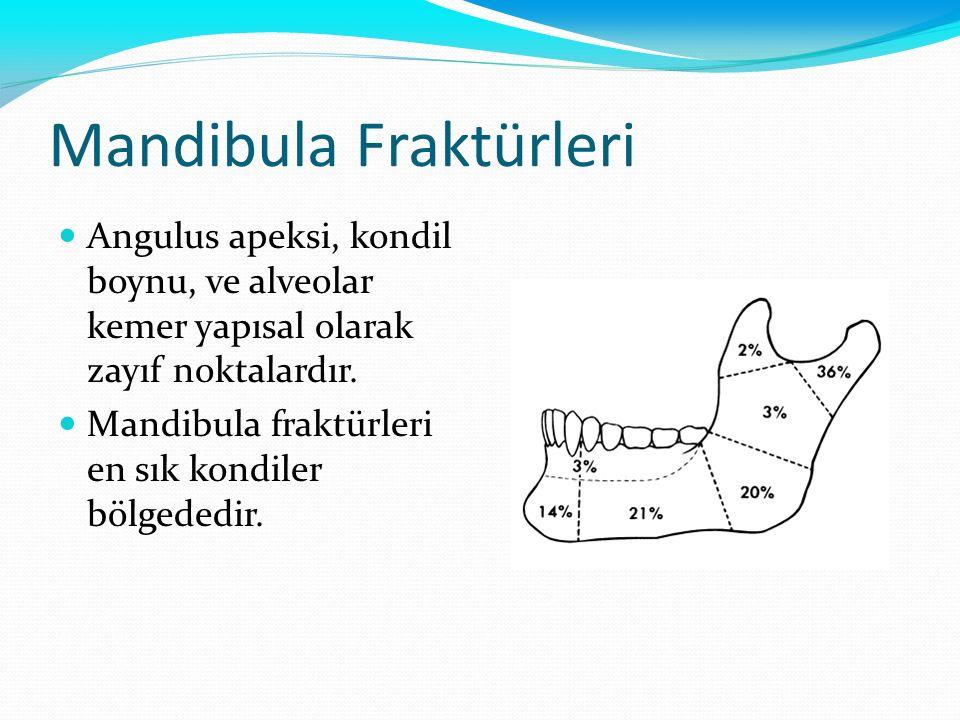 Mandibula Fraktürleri