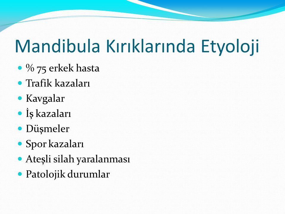 Mandibula Kırıklarında Etyoloji