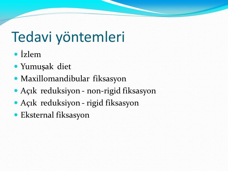Tedavi yöntemleri İzlem Yumuşak diet Maxillomandibular fiksasyon