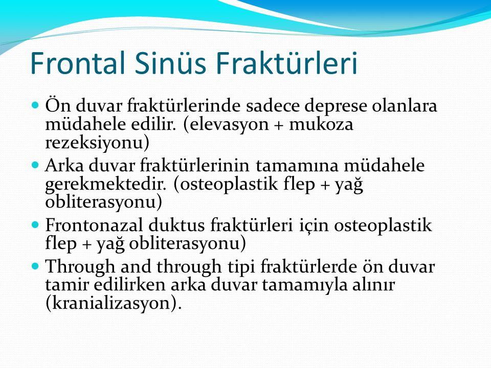 Frontal Sinüs Fraktürleri